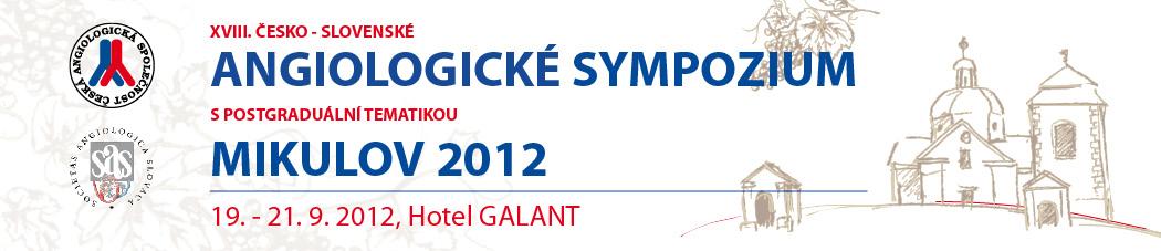XXV. Světový angiologický kongres 2012 a XXXVII. Angiologické dny
