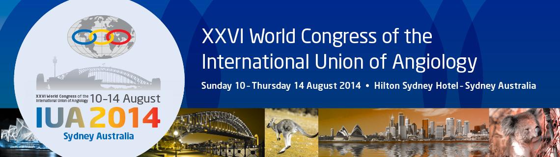 2014 XXVI World Congress of the International Union of Angiology (IUA)