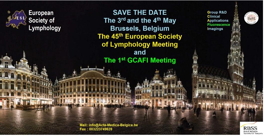 European Society of Lymphology » » Presentation of ESL 2019