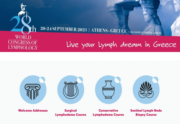 28th WORLD CONGRESS OF LYMPHOLOGY / SAVE THE DATE /20-24 SEPTEMBER 2021 – ATHENS